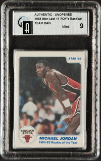 """1985 Star Basketball """"Rookies Of The Year"""" Complete Bagged Set - GAI MINT 9!"""