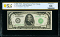 Small Size:Federal Reserve Notes, Fr. 2212-G $1,000 1934A Federal Reserve Note. PCGS Banknote Choice Unc 64.. ...