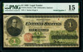 Large Size:Legal Tender Notes, Fr. 17a $1 1862 Legal Tender PMG Choice Fine 15.. ...