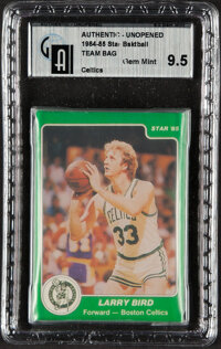 1984-85 Star Co. Boston Celtics Team Set In Original Sealed Bag GAI Gem Mint 9.5