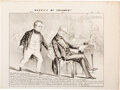 Political:Posters & Broadsides (pre-1896), Daniel Webster & Henry Clay: Compromise of 1850 Fugitive Slave Act Cartoon....