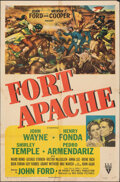 "Movie Posters:Western, Fort Apache (RKO, 1948). Folded, Fine-. One Sheet (27"" X 41""). Western.. ..."