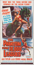 "Movie Posters:Science Fiction, The Phantom from 10,000 Leagues (American Releasing Corp., 1956). Folded, Very Fine. Three Sheet (41"" X 79"") Albert Kallis A..."