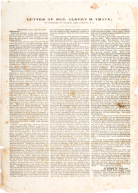 [Martin Van Buren]: Small New York State Broadside
