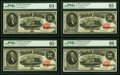 Large Size:Legal Tender Notes, Cut Sheet of Four Fr. 56 $2 1880 Legal Tender PMG Choice Uncirculated 64 EPQ or Better.. ... (Total: 4 notes)