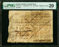 South Carolina April-May, 1775 £20 Private Promissory Note PMG Very Fine 20, pen cancelled