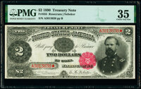 Fr. 355 $2 1890 Treasury Note PMG Choice Very Fine 35