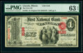 Lincoln, IL - $1 Original Fr. 382 The First National Bank Ch. # 2126 PMG Choice Uncirculated 63 EPQ