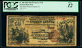 National Bank Notes:Pennsylvania, Oxford, PA - $50 1882 Brown Back Fr. 508 The National Bank of Oxford Ch. # (E)728 PCGS Fine 12.. ...