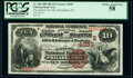 National Bank Notes:Pennsylvania, Philadelphia, PA - $10 1882 Brown Back Fr. 484 The Quaker City National Bank Ch. # (E)4050 PCGS Choice About New 58....