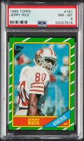 Football Cards:Singles (1970-Now), 1986 Topps Jerry Rice #161 PSA NM-MT 8....