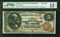 National Bank Notes:Oklahoma, El Reno, OT - $5 1882 Brown Back Fr. 472 The First National Bank Ch. # (W)4830 PMG Choice Fine 15 Net.. ...
