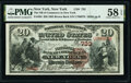 New York, NY - $20 1882 Brown Back Fr. 494 The National Bank of Commerce Ch. # 733 PMG Choice About Unc