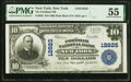National Bank Notes:New York, New York, NY - $10 1902 Plain Back Fr. 635 The Fordham National Bank Ch. # 12825 PMG About Uncirculated 55.. ...