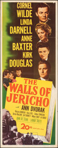 "Movie Posters:Drama, The Walls of Jericho & Other Lot (20th Century Fox, 1948). Folded, Fine+. Inserts (2) (14"" X 36""). Drama.. ... (Total: 2 Items)"