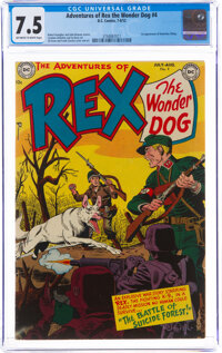 Adventures of Rex the Wonder Dog #4 (DC, 1952) CGC VF- 7.5 Off-white to white pages