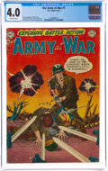 Golden Age (1938-1955):War, Our Army at War #1 (DC, 1952) CGC VG 4.0 Off-white pages....