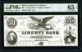 Obsoletes By State:Rhode Island, Providence, RI- Liberty Bank $50 18__ G12 Proprietary Proof PMG Gem Uncirculated 65 EPQ.. ...