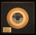 """Music Memorabilia:Awards, Trini Lopez Personally Owned """"If I Had A Hammer"""" In-House Gold Sales Award...."""