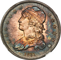1831 25C Small Letters, B-2, R.2, MS67+ NGC. CAC....(PCGS# 38981)