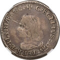 Colonials, (1659) 6PENCE Lord Baltimore Sixpence -- Obverse Damage -- NGC Details. VF. Hodder 2-C, W-1060, R.5....