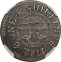 1783 SHILNG Chalmers Shilling, Short Worm -- Reverse Scratched -- NGC Details. VF. Breen-1011, W-1785, High R.4....(PCGS...