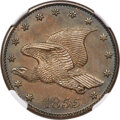 1855 P1C Flying Eagle Cent, Judd-167 Original, Pollock-193, R.5, PR64 Brown NGC....(PCGS# 11709)