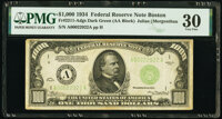 Fr. 2211-A $1,000 1934 Federal Reserve Note. PMG Very Fine 30