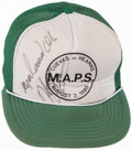 Boxing Collectibles:Autographs, 1980 Muhammad Ali & Thomas Hearns Signed Hat. ...