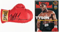 Boxing Collectibles:Autographs, Mike Tyson Signed Boxing Glove, PSA/DNA....