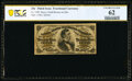 Fr. 1299 25¢ Third Issue PCGS Banknote Uncirculated 62