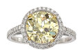 Estate Jewelry:Rings, Fancy Brownish Yellow Diamond, Diamond, Platinum Ring. ...