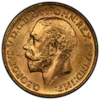 Canada: George V gold Sovereign 1913-C MS63 PCGS