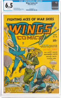 Wings Comics #21 (Fiction House, 1942) CGC FN+ 6.5 White pages