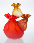 Glass, Kate Vogel and John Littleton (American, 20th Century). Acro Bags Red, 2000. Glass. 16 x 11 x 11 inches (40.6 x 27.9 x 2...