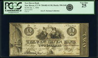 New Haven, CT - New Haven Bank $2 Jan. 1, 1846 CT-290 G60 PCGS Very Fine 25