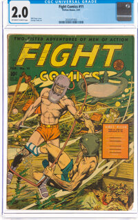 Fight Comics #11 (Fiction House, 1941) CGC GD 2.0 Off-white to white pages