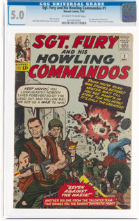 Sgt. Fury and His Howling Commandos #1 (Marvel, 1963) CGC VG/FN 5.0 Off-white to white pages