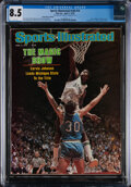 """Basketball Collectibles:Publications, 1979 Magic Johnson """"Sports Illustrated"""" (4/2), CGC 8.5 - Pop One, None Higher!..."""
