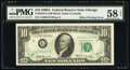 Error Notes:Offsets, Full Back to Face Offset Error Fr. 2019-G $10 1969A Federal Reserve Note. PMG Choice About Unc 58 EPQ.. ...