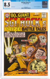 80 Page Giant #7 Sgt. Rock Prize Battle Tales (DC, 1965) CGC VF+ 8.5 Off-white to white pages