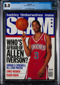 """Basketball Collectibles:Publications, 1997 Allen Iverson First """"Slam"""" Magazine (6/97) - CGC 8.0 - Pop One, None Higher!..."""