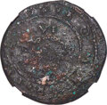 Colonials, (1616) 6PENCE Sixpence, Small Portholes, W-11440, British Monetary Authority Type II, High R.6, VF20 NGC....