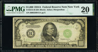 Fr. 2212-B $1,000 1934A Federal Reserve Note. PMG Very Fine 20