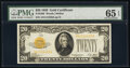 Small Size:Gold Certificates, Fr. 2402 $20 1928 Gold Certificate. PMG Gem Uncirculated 6...