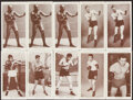 """Boxing Cards:General, 1938 Churchman's """"Boxing Personalities"""" Complete Sets (2) and Near Set (48/50). ..."""