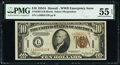Small Size:World War II Emergency Notes, Fr. 2303 $10 1934A Hawaii Federal Reserve Note. PMG About Uncirculated 55 EPQ.. ...