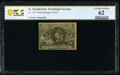 Fractional Currency:Second Issue, Fr. 1233 5¢ Second Issue Courtesy Autograph PCGS Banknote Uncirculated 62.. ...