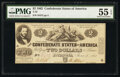 Confederate Notes:1862 Issues, T42 $2 1862 PMG About Uncirculated 55 EPQ.. ...
