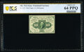 Fractional Currency:First Issue, Fr. 1243 10¢ First Issue PCGS Banknote Choice Unc 64 PPQ.. ...